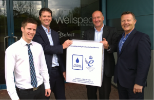 From l-r (George Bibby, Select Customer Service, Jon Thomson, Urology Product Manager, Mark Moran and Mick Evans, Hydrate for Health.
